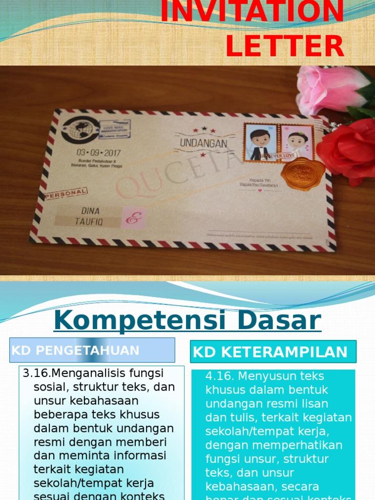 Invitation Letter 1