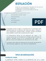 Diapositiva de Destilacion