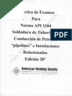 Examen Norma API 1104