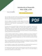 Parte I - 2.8 HTML- Conceptos Básicos (Parte 1)