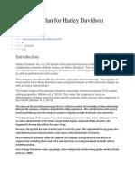 Marketing Plan for Harley Davidson Report.docx