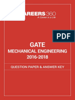 GATE 2016 2018 Mechanical Engineering Question Paper and Answer Key