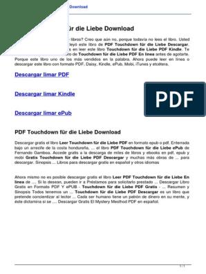 Touchdown Fur Die Liebe B0198exy9c Publicacion Electronica