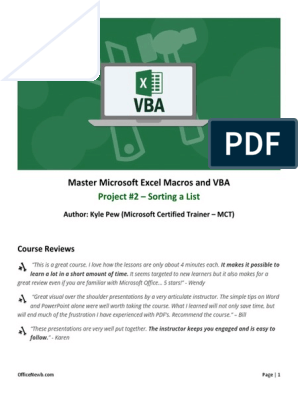 master microsoft excel macros and excel vba free download