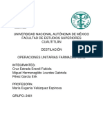 Destilación Operaciones Unitarias Farmaceúticas