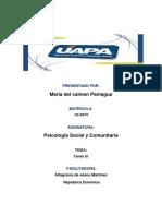 Tarea Tres de Psicologia Social y Comunitaria Ysaura