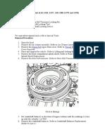 Sincronizacion de Motor Chevrolet Cruze 1.6l Lde Lxv 1.8l 2h0 Luw Lfh