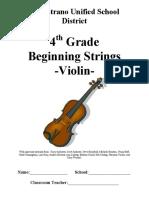 Violin string beginning