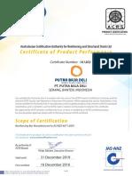 Australian Certification (ACRS-161202)-For Export