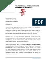 SAMBUTAN Upacara Hari Pramuka 58 Th 2019