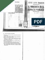 El Periodista en El Espacio Publico - Jose Luis Dader