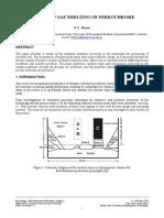 Aspects of Saf Smelting of Ferrochrome
