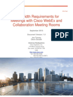 Bandwidth Requirements for WebEx CMR Meetings
