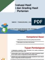 evaluasi hasil sortasi dan grading
