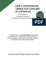 Evaluacion e Intervencion de Trastornos Por Consumo de Sustancias