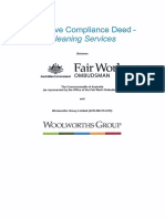 Woolworths Group Cleaning Services Proactive Compliance Deed