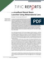 broadband bessel beam launcher