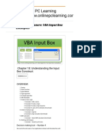 VBA for Beginners VBA Input Box Examples - Online PC Learning