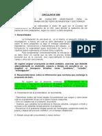 CIRCULAR N3-99 Pautas Para Redacción Tesis