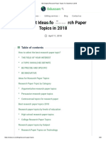 100 Original Research Paper Topics for Students in 2019