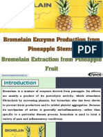 Bromelain Enzyme Production from Pineapple Stems