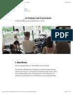 The Short to Feature Lab Curriculum – Jim Cummings – Medium