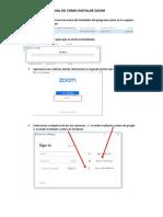 Como Instalar Zoom y Acceder a Clase Virtual