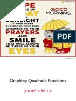 Graph of Quadratic Functions