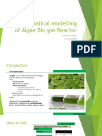 Mathematical Modelling of Algae Bio Gas Reactor
