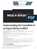 MQL4 Basics - Understanding the Framework of an EA