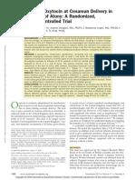 Five Unit Bolus Oxytocin at Cesarean Delivery