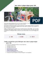 Tuto - Fabriquez Une Caisse à Pique-nique Pour Vélo