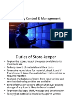 Inventory Control & Management