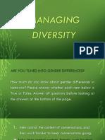 Managing Diversity Part 2