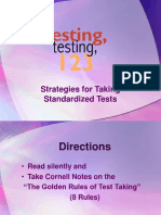 Test Taking Strategies Power Point