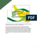 subway seminar