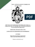 Estudio de viabilidad para la instalación de un centro de convenciones en Chiclayo