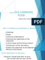 Sample Learning Plan