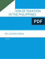 Evolution of Taxation