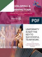 Developing a Winning Team