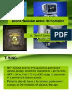 1. Akses Vaskular Yang Aman Untuk HD - Dr Dedi a Zaelani