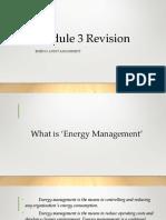 Energy Audit Module 3