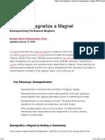 deamagnetise