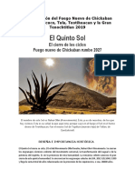 Peregrinación del Fuego Nuevo de Chickaban Cerro de Xicuco, Tula, Teotihuacan y la Gran Tenochtitlan 2019