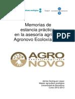 MEMORIAS Asesoría Agrícola