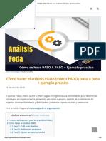 ▷ Matriz FODA_ 6 pasos para realizarla + formato y ejemplo práctico