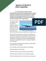 El 10 de Agosto Es El Día de La Fuerza Aérea Argentina – AIM Digital