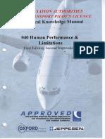 Jaa Atpl Book 8 - Oxford Aviation Jeppesen - Human Performance1