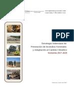 Estrategia Prevencion de Incendios Forestales Marzo 2017