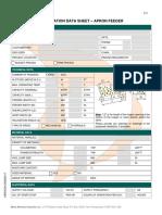 Apron Feeder Application Datasheet En
